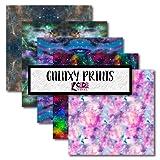 Sky Galaxy CSDS Vinyl, Space Galaxy Patterned Vinyl, Outer Space Galaxy Heat Transfer Vinyl, Star Printed Vinyl, Bundle Pack of 5 (Heat Transfer Vinyl) (Tamaño: 12