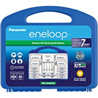 Panasonic K-KJ17MCC82A Eneloop Power Pack with 8AA, 2AAA, 2 C Spacers, 2 D Spacers, Battery Charger