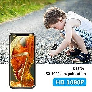 Wireless Digital Microscope,YINAMA 50x to 1000x
