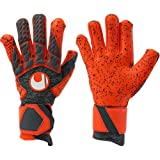 uhlsport AERORED SUPERGRIP HN Goalkeeper Gloves Size 11 (Color: fluo red, Tamaño: 11)