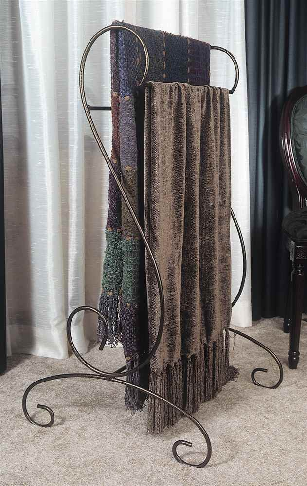 J&J Wire Quilt/Blanket Holder, Bronze