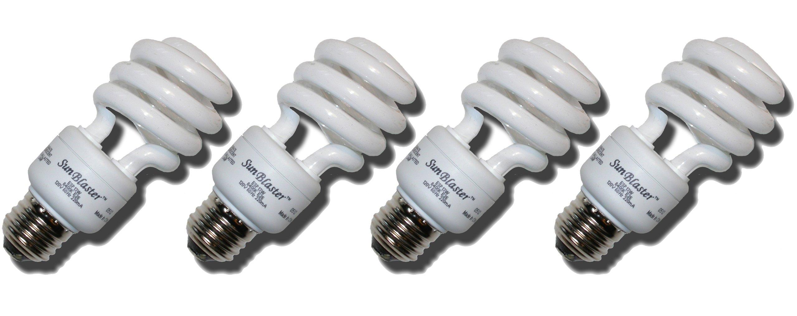 cfl grow light compact fluorescent light 13 watt 4 pack of 6400k full. Black Bedroom Furniture Sets. Home Design Ideas
