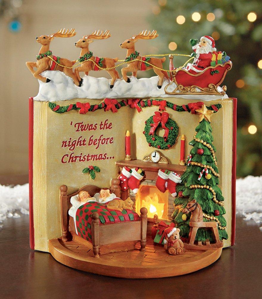 Lighted Night Before Christmas Tabletop Figurine