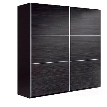 Habitdesign ARC180G - Armario dos puertas correderas, color Gris Ceniza, medidas: 200x180x63 cm de fondo