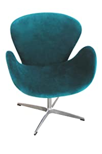 Premier Housewares Microfibre Revolving Chair with Chrome Base   90 x 70 x 59 cm   Teal       reviews and more information