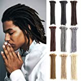 Handmade Dreadlocks Extensions Black 12 inch Fashion Reggae Hair Hip-Hop Style 10 Strands/Pack Synthetic Braiding Hair From Maya Culture For Men (M1)