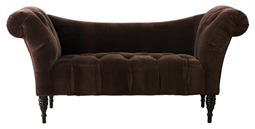TOV Furniture Shev Velvet Settee, Brown