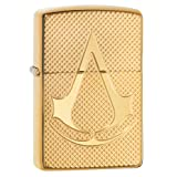 Zippo Deep Carved Assassin's Creed Armor High Polish Chrome Pocket Lighter (Color: High Polish Brass)