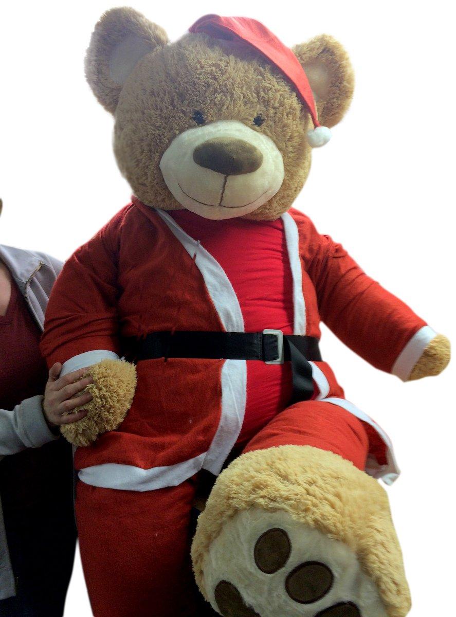 Giant Teddy Bear Dressed in Santa Suit