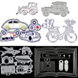 6 Sets Classic Cars Wheel Automobile Bicycle Book Travel Equipment Cutting Dies Stencils Frame Die Cuts Metal Template Mould DIY Scrapbook Card Making Tool Photo Album Scrapbooking Paper Card Craft (Color: 6 Sets)
