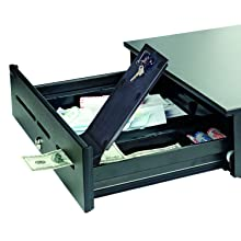 MMF Industries Steelmaster Magic Touch Model 1060 GT Cash Drawer with Keyed Lock, 4.75 x 18 x 16.7 Inches, Black (2251060GT04)