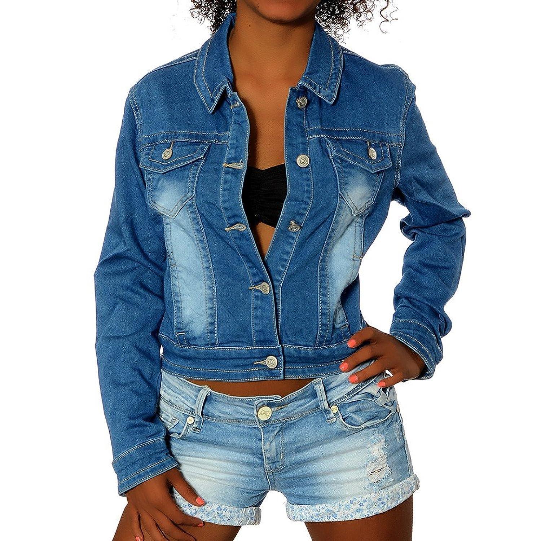G645 Damen Jeans Jacke Jacket Jeansjacke Jacken Damenjacke Blazer jetzt kaufen