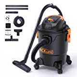 TACKLIFE Wet/Dry Vacuum, 5 Gallon, 5.5 Peak HP with 17 FT Clean Range, 4-Layer Filtration System and Safety Buoy Technology for Dry/Wet/Blowing - PVC01A (Color: Black, Tamaño: 1000W Wet Dry Vacuum)
