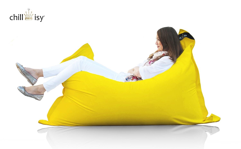 chillisy© Sitzsack, Loungekissen SUMMERTIME MINI, fuer Indoor & Outdoor, gelb (130 x 100 cm) günstig kaufen