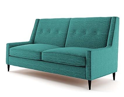 Ives 2 Sitzer Sofa turkis, Couch , Jugendsofa, couchgarnituren, lounge möbel