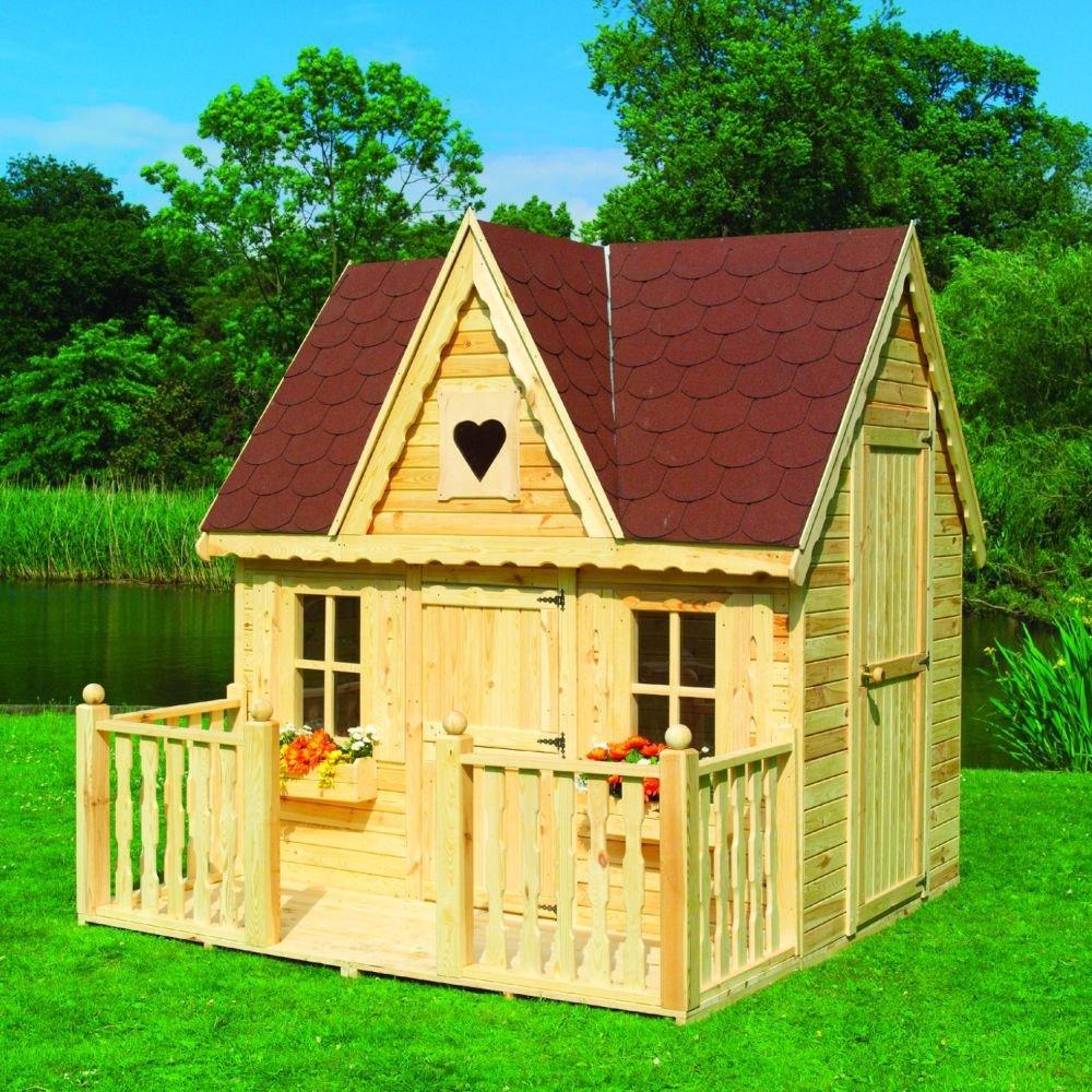 Spielhaus Schwalbennest mit Veranda Kinderhaus Gartenhaus Bausatz online bestellen