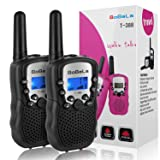 Bobela T388 Best Cool Walkie Talkies as Christmas Stocking Fillers Gifts for Teenage / Twin Way Radio Toys for Kids Hunting / Long Range Walky Talky with Light for Adults Cruise Ship ( Black 2 Pack ) (Color: T388 Black of 2)