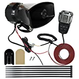 MIRKOO 12V 100W 7 Tones Car Siren Speaker with Mic PA System Car Loud Emergency Sound Alter Warning Siren Speaker Amplifier Horn with Hooter, Fire Alarm, Ambulance, Traffic, Police, Horn Sound etc.