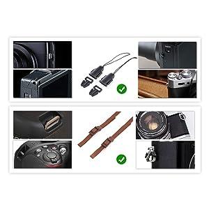 TARION Camera Shoulder Neck Strap Vintage DSLR Camera Belt for Nikon Canon Sony Pentax Cameras Classic Khaki (Upgraded Version) (Color: Khaki(New Version))
