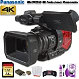 Panasonic AG-DVX200 4K Professional Camcorder (AG-DVX200PJ8) W/ 64GB Memory Card, Cleaning Set and More. (Tamaño: Base)