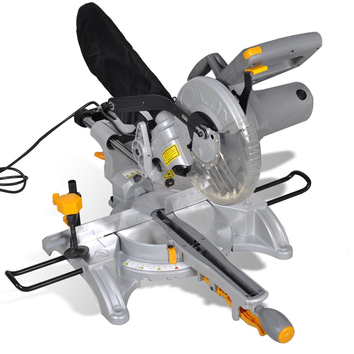 Zug Kapp und Gehrungssäge 1700 W Zugsäge Kappsäge mit Laser, 210mm Sägeblatt   Kundenbewertung und weitere Informationen
