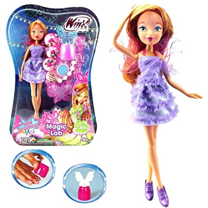 Winx Club - Magic Lab - Poupée fée Flora & Nail Styles Set - Saison 7