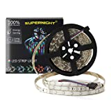 SUPERNIGHT (TM) IP65 Waterproof 5M/16.4 Ft RGB SMD 3528 LED Color Changing 300 LED Flexible Strip Light (Color: Multi-colored)