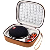 Case for JBL Clip 2 / JBL Clip 3 Waterproof Portable Bluetooth Speaker, Fit USB Cable and Adapter - Brown (Color: Brown)