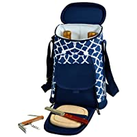 Picnic at Ascot Trellis Blue Wine & Cheese Cooler,