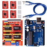 Longruner GRBL CNC Shield Expansion Board V3.0 +UNO R3 Board + A4988 Stepper Motor Driver With Heatsink for Arduino Kits (Arduino Kits) (Color: Arduino Kits)