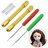 10 Pack Doll Hair Rooting Holders Reroot Rehair Tools for Dolls Hair Making Tools Doll Hair Wig Tool Accessories Hair DIY Supplies