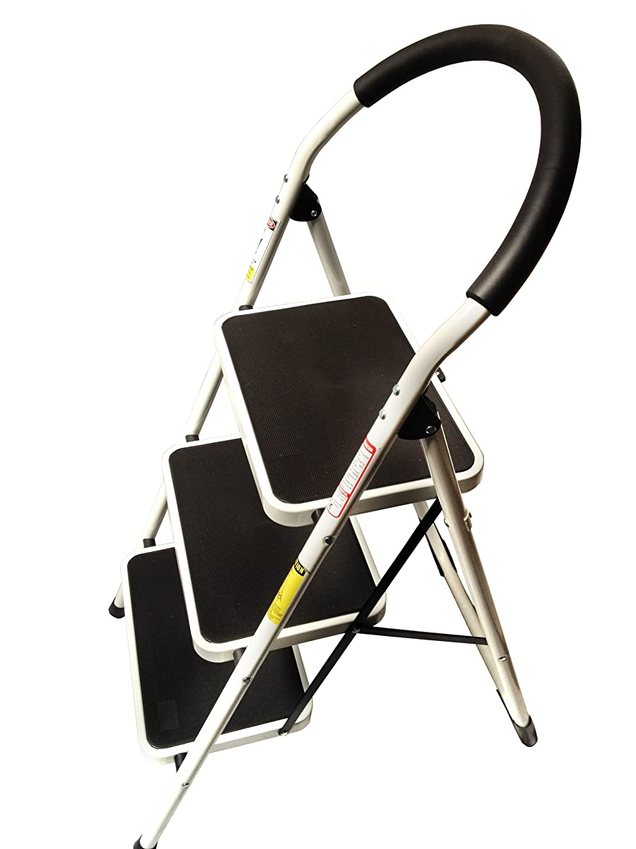 Stepup Heavy Duty Steel Reinforced Folding 3 Step Ladder