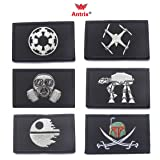 Antrix 6 Pieces Star Wars Galactic Empire Embroidered Tactical Morale Tags Patches (Color: Star Wars)