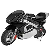 XtremepowerUS Gas Pocket Bike Motorcycle 40cc 4-stroke Engine, Black