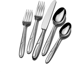 Mikasa Cocoa Blossom 65-Piece Stainless Steel Flatware Set