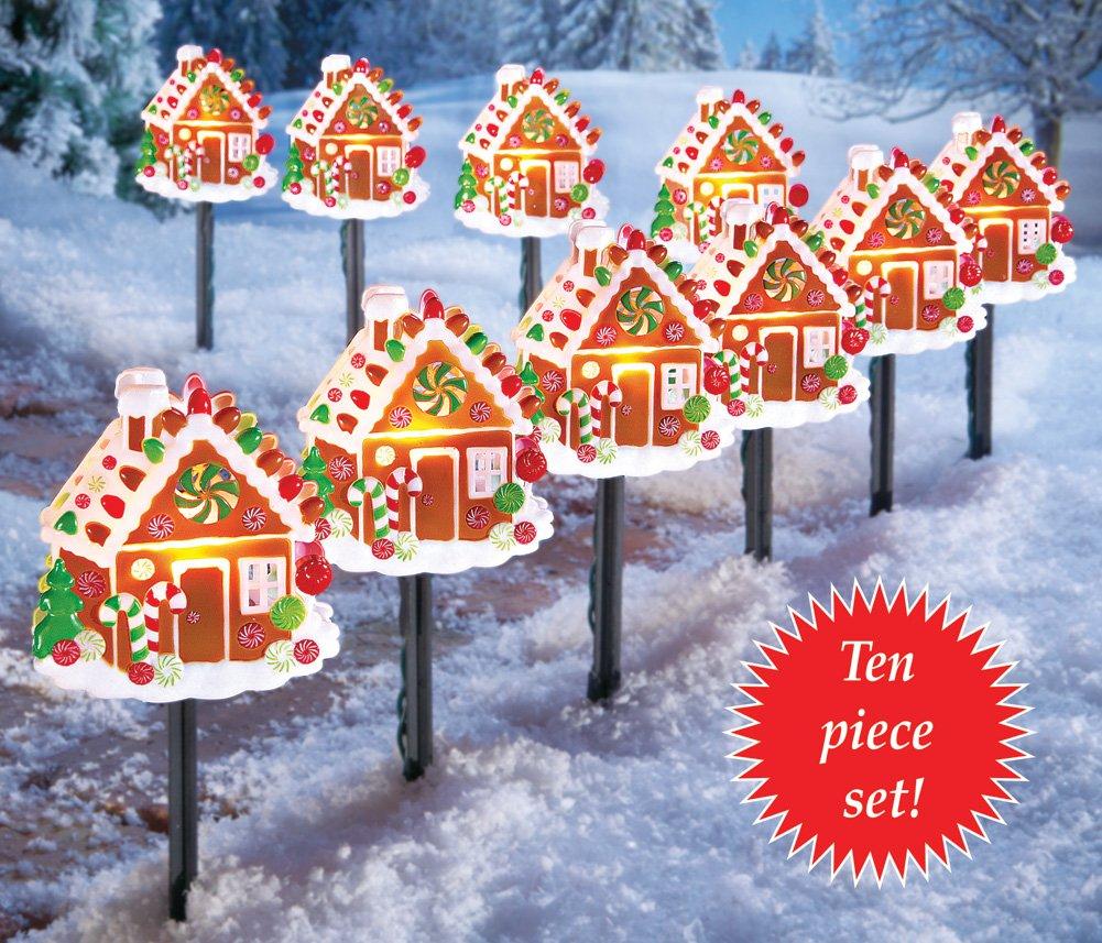 Gingerbread Christmas Pathway Lights Christmas Wikii - Pathway Christmas Lights