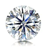 VAN RORSI&MO GH Colorless Simulated Diamond Moissanite Loose Stone, Excellent Cut Round Brilliant VVS Clarity(2.0CT)