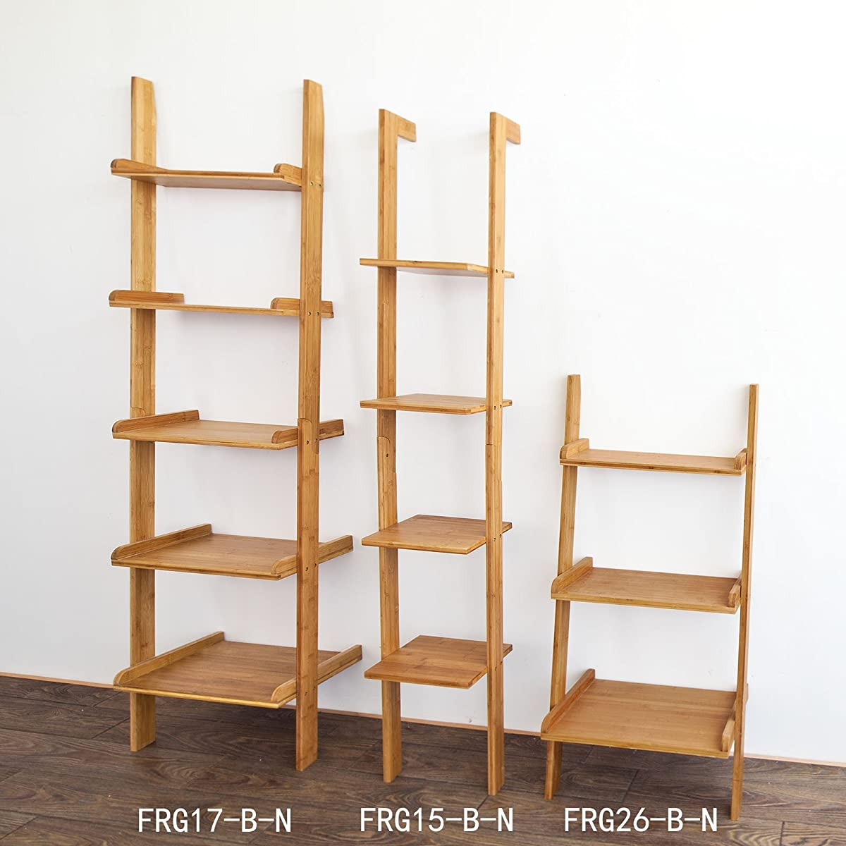 Haotian Modern ladder bookcase made of wood, book shelf,stand shelf, wall shelf ,corner bookshelf (FRG17-SCH)