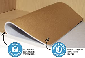 Drymate Premium Shelf Liner and Drawer Liner (Set of 2), (12 x 59), Non Adhesive, Durable, Slip Resistant - Absorbent/Waterproof - for Drawers, Shelves and Cabinets (USA Made) (Color: White, Tamaño: (Set of 2) 12 x 59)