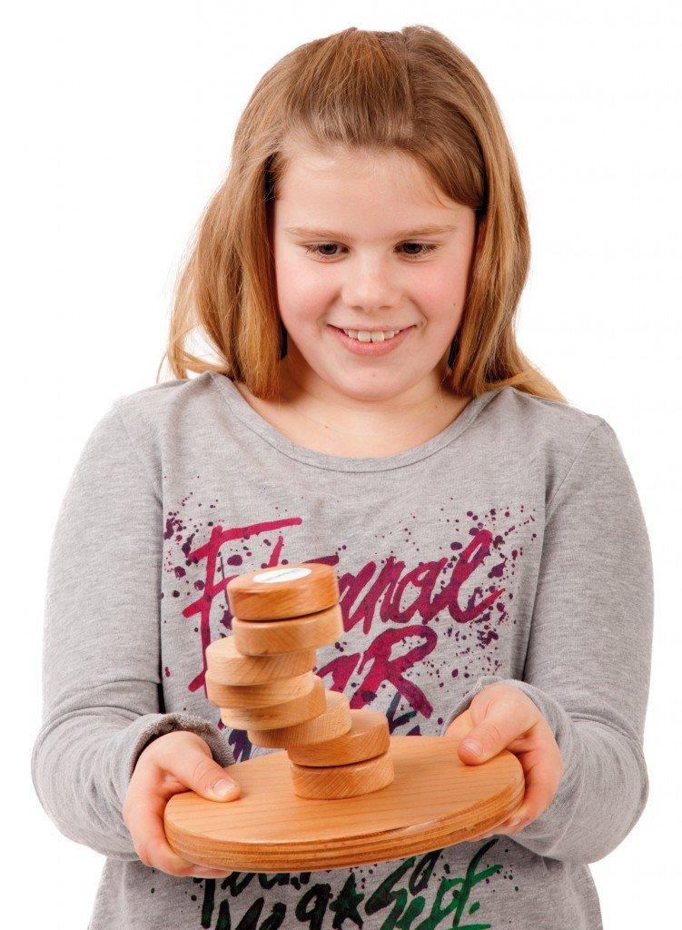 Inimove Cognitive / Trainingsgerät / Teller aus Buchenholz – Durchmesser 20 cm und 8 lackierte Buchenholz-Scheiben günstig online kaufen