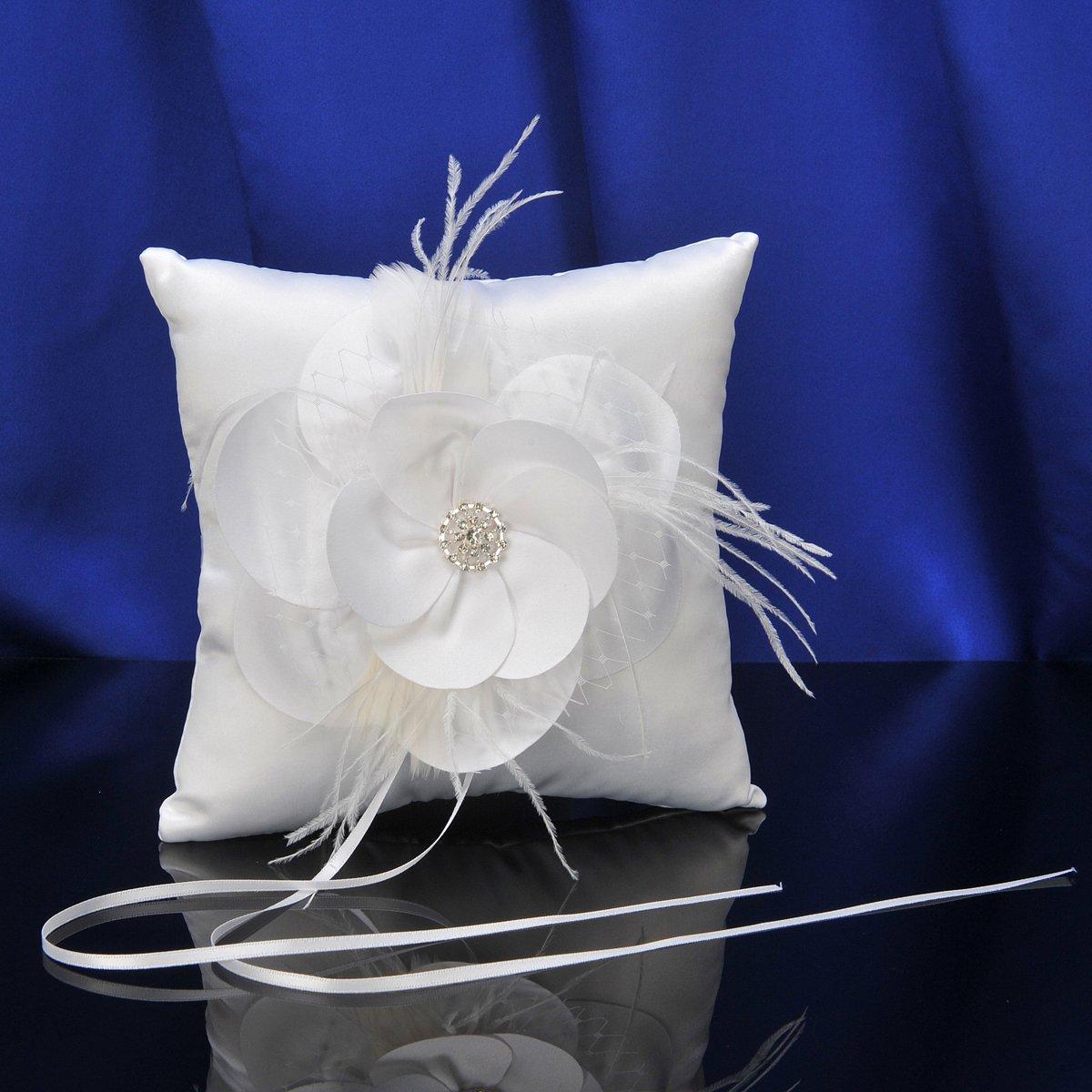 topwedding blanc satin ring kissen g nstig online kaufen. Black Bedroom Furniture Sets. Home Design Ideas