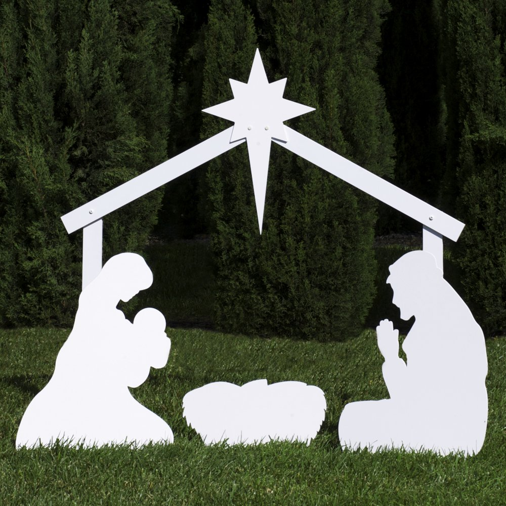 Mine Outdoor christmas yard nativity scene