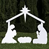 Outdoor Nativity Store Silhouette Outdoor Nativity Set - Holy Family Scene