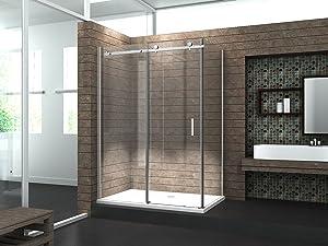 8 mm Designer Duschkabine Duschabtrennung Schiebetür Dusche Echt Glas 120 x 90 x 195 cm TELA  Überprüfung und weitere Informationen