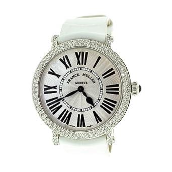 Franck Muller Round Women's Watch Sun Stamped Dial Diamond Bezel