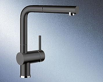Blanco Linus S Keramikschwarz Mischarmatur Einhandmischer Wasserhahn Küche  HD   Vnmmvnb