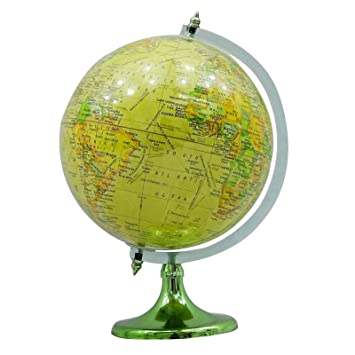 Gran globo terr queo mundo girando oc ano rojo decoraci n - Globo terraqueo amazon ...