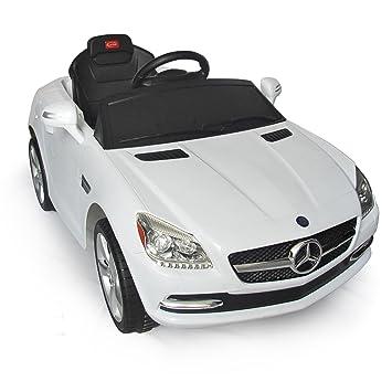 mercedes benz slk kids 6v electric ride on toy car w parent remote control white