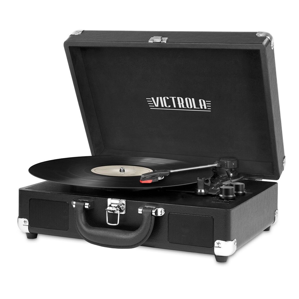 Victrola Nostalgic 3-Speed Vintage Bluetooth Suitcase Turntable, Black 0