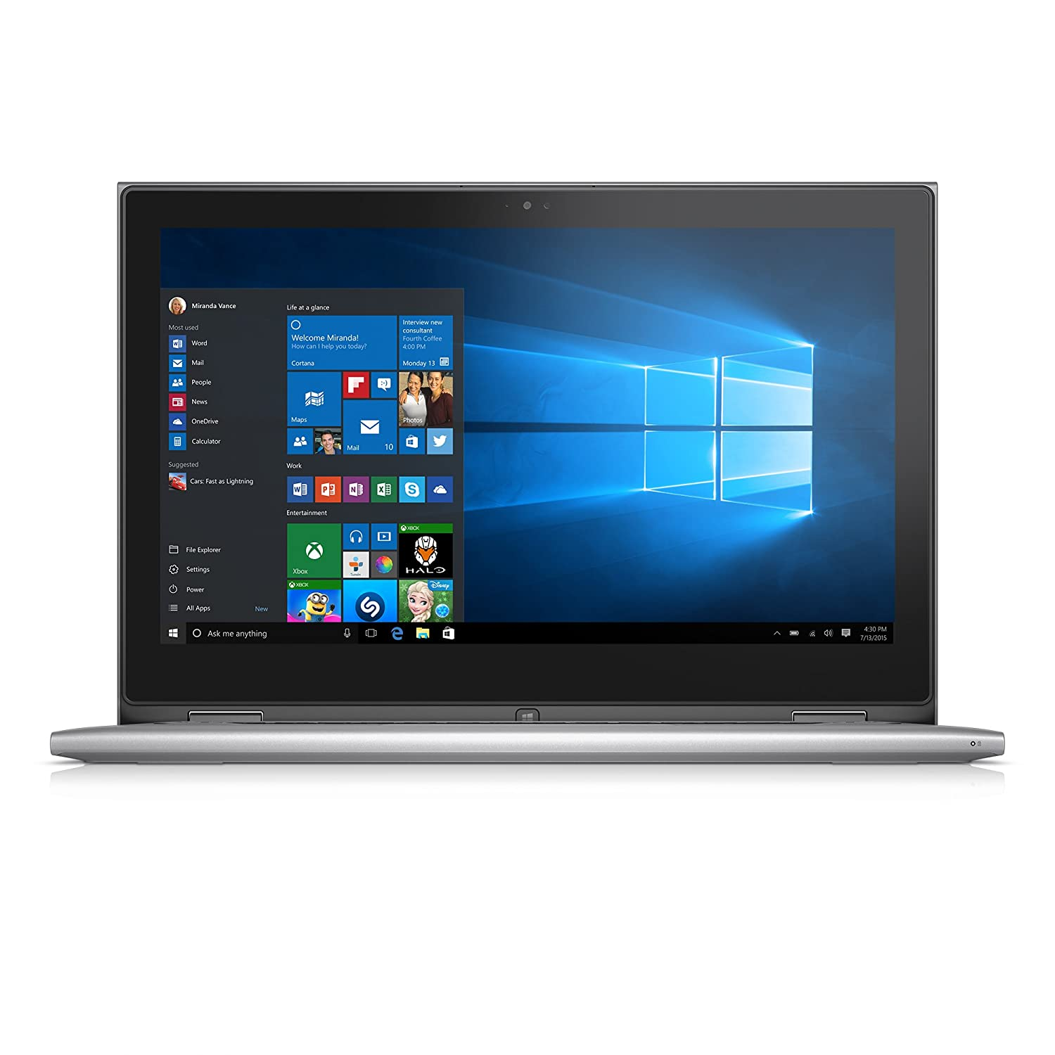 Dell Inspiron i7359-4371SLV 13.3 Inch 2-in-1 Touchscreen Laptop (6th Generation Intel Core i5, 8 GB RAM, 500 GB HDD + 8 GB SSD)